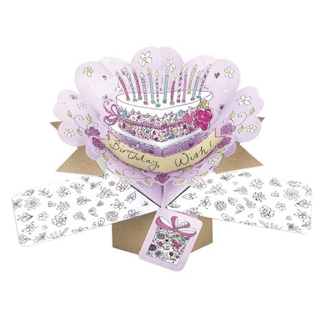 Birthday Pop Up Greeting Card birthday cake pop up greeting card cards kates