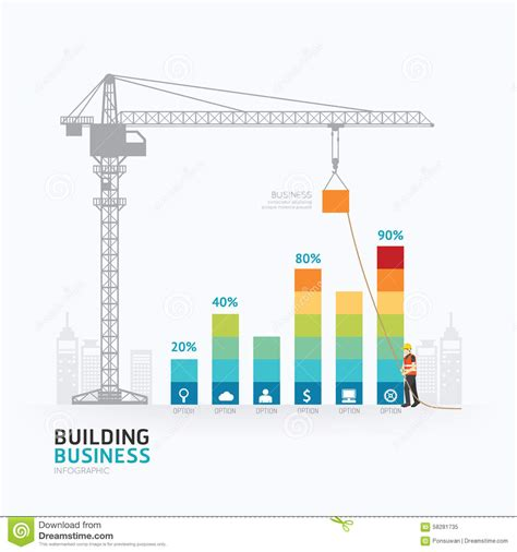 Infographic Business Graph Template Design Building To Success C Stock Vector Illustration Of Business Graph Templates