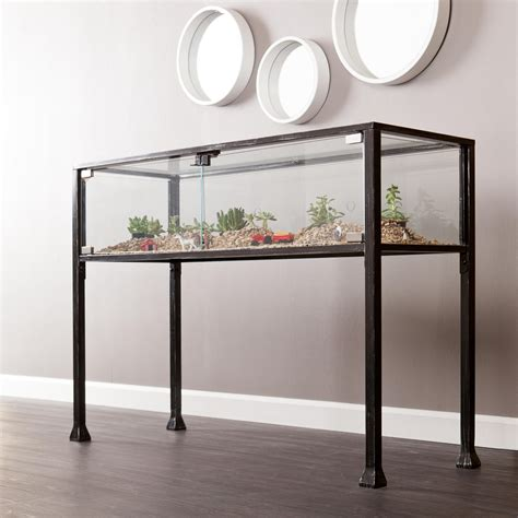 terrarium table amazon com southern enterprises ayers terrarium display