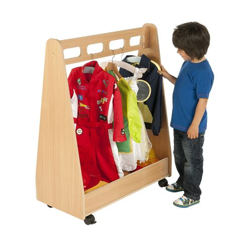 Dressing Up dress up trolley wooden dressing up storage trolley