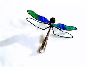 Decoration Under The Sea Stained Glass Dragonfly Suncatcher Spoon By