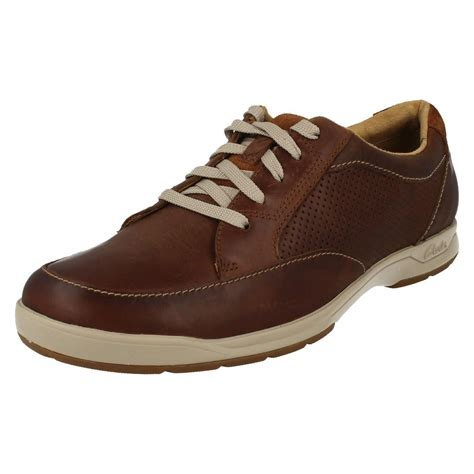up shoes mens clarks rounded toe lace up shoes stafford park 5