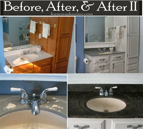 Diy Bathroom Countertop Ideas by Kammy S Korner Painting A Porcelain Vanity Countertop