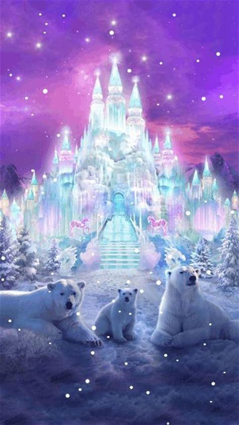 winter snow polar bear fantasy gif fantasy city polar