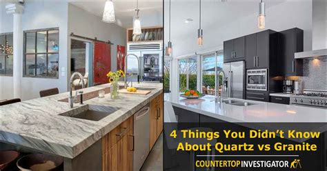 Kitchen Island Work Table by Granite Versus Quartz Countertops Advice For Better