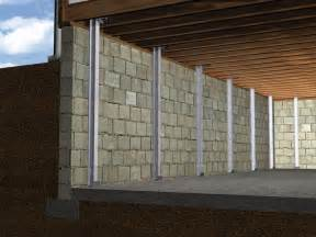 Ohio Basement Systems - the powerbrace wall repair system installation in ohio i beam system for failing basement