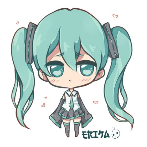 Imagenes Kawaii De Miku | kawaii hatsune miku by dessineka on deviantart