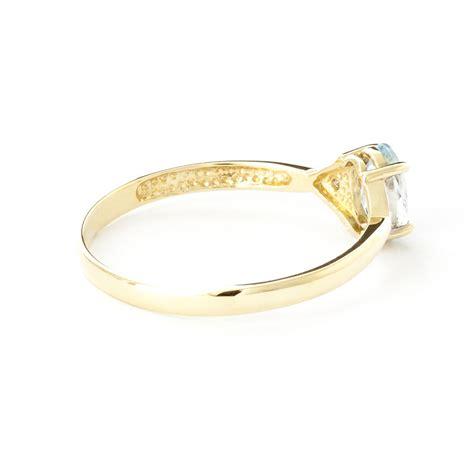 14k gold aquamarine ring gj1233y