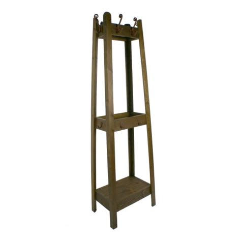 perchero con estante perchero de pie con estructura madera decoraci 243 n r 250 stico