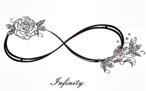infinity symbol with a rose tattoo vine tattoos that will pull at your heartstrings