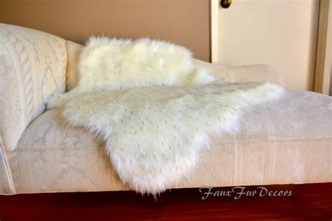 Sheepskin Rug On Sofa by Flokati Sheepskin Sofa Throws Cushion Buffer Faux Fur