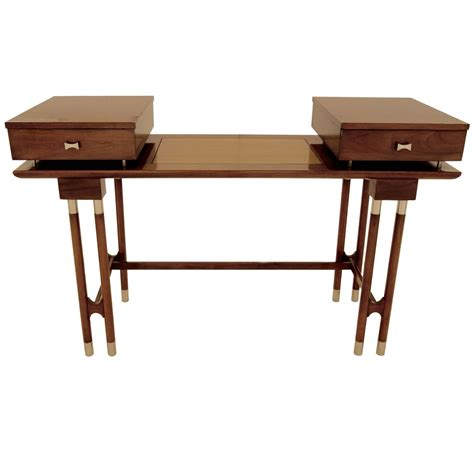 modern writing desk mid century modern writing desk or vanity for sale at 1stdibs