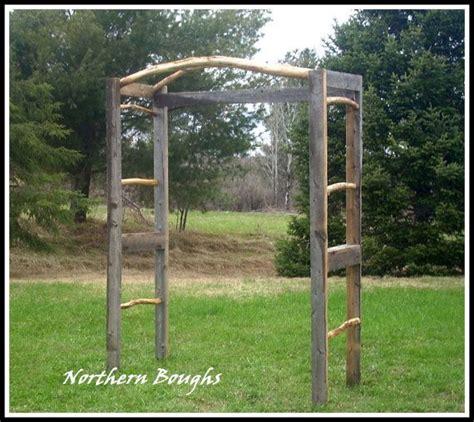Wedding Arch Trellis by Weathered White Cedar Rustic Wedding Arch Kit Rustic