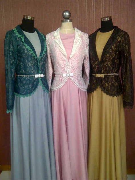 Dress Brokat Valencia Size Lengkap baju muslim gamis modern