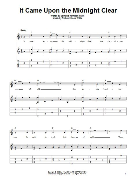 printable lyrics it came upon a midnight clear it came upon the midnight clear sheet music direct