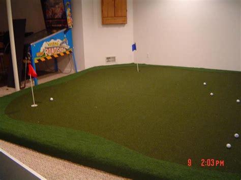 putting rug on carpet basement putting green smalltowndjs