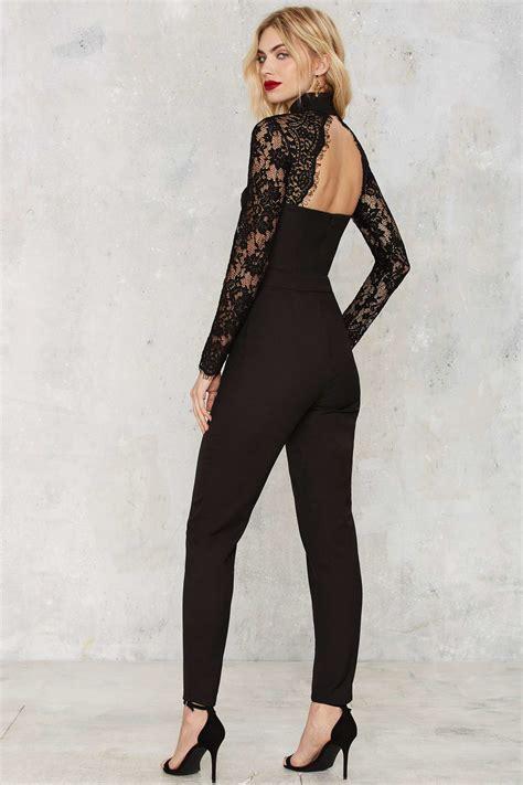 Set Jumpsuit Salur 1 lyst misha collection kiara lace jumpsuit in black