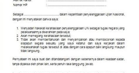 gugus wilayah binaan viii delapan kelurahan kapuk surat pernyataan