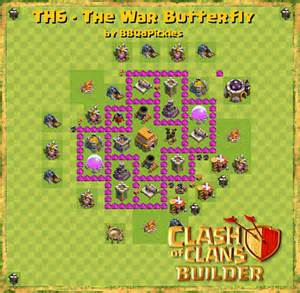 Th6 the war butterfly w air sweeper clash of clans builder