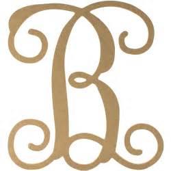 monogram letter 12 quot wood letter vine monogram b ab2197 craftoutlet