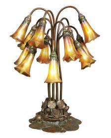 Tiffany studios 12 light lily table lamp doyle lot 512