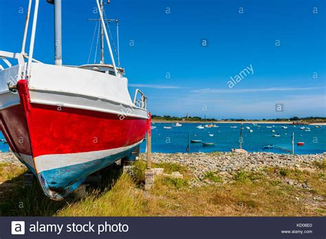 channel islands boat channel islands guernsey fishing boat stock photos