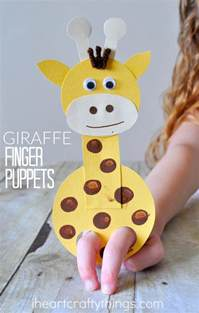 children s arts and crafts adorable giraffe finger puppet craft i crafty things