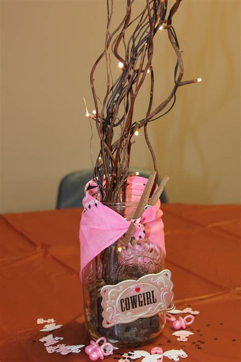 centerpieces for cowgirl baby shower shower party decor