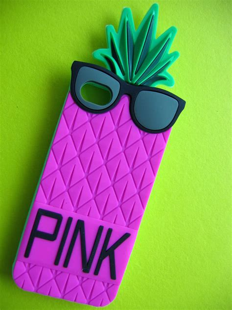 Pink Pineapple Silicone Softcase Apple Iphone 55s 3d h pink pineapple soft silicon gel cover for apple iphone 5 5s protector