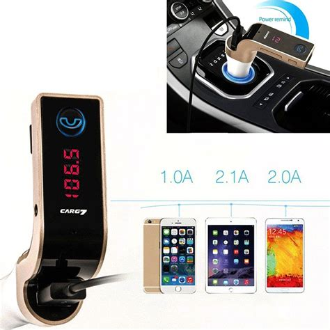 Adaptor Untuk Radio car charger 4 in 1 bluetooth fm transmitter mp3 g7 silver jakartanotebook