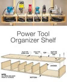Garage Organization Power Tools Workshop Power Tool Storage Ideas Woodworking Projects