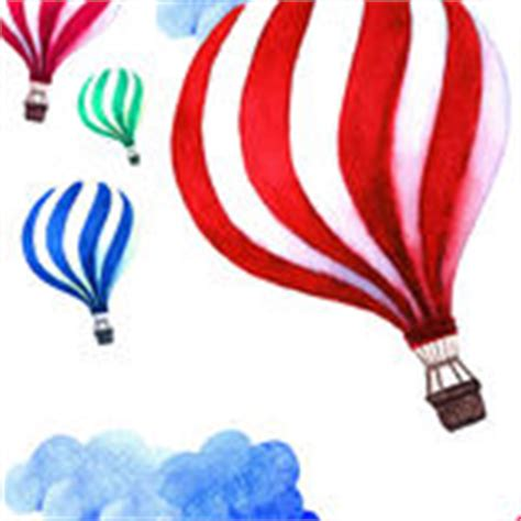 watercolor pattern with air balloons and clouds stock balloon collage 2 royalty free stock image image 210596