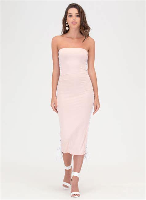 Natasya Gamis Baliteli Dress Maxy laced the slit maxi dress pink white gojane