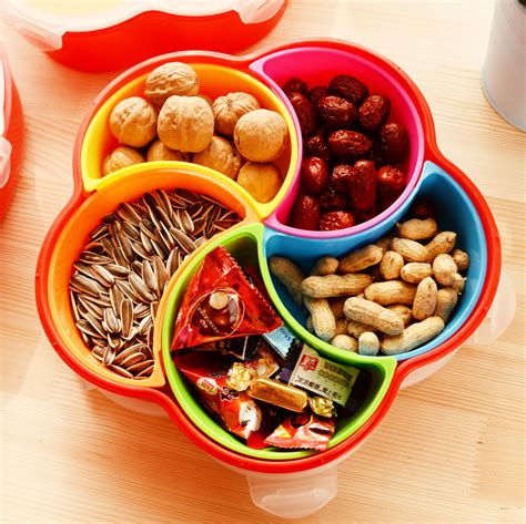 Fruit Plastic Plate household fruit plate snacks food container with lid