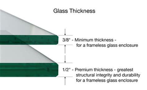 Shower Door Glass Thickness Plan And Design Your Frameless Shower