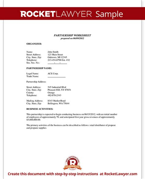 percentage agreement template business partnership agreement template partnership