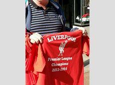 Jumping the Gun! 'Liverpool Premier League Champions 2013 ... Tottenham Shirts