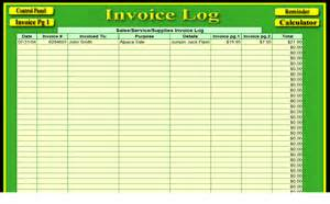 Invoice Log Template Invoice Programs Livestock Management Com Alpaca Tracker
