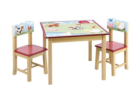 Child Table And Chairs by Guidecraft Farm Friends Table 2 Chairs Set Free