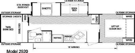 layton rv floor plans 2007 skyline layton 2920 floorplan