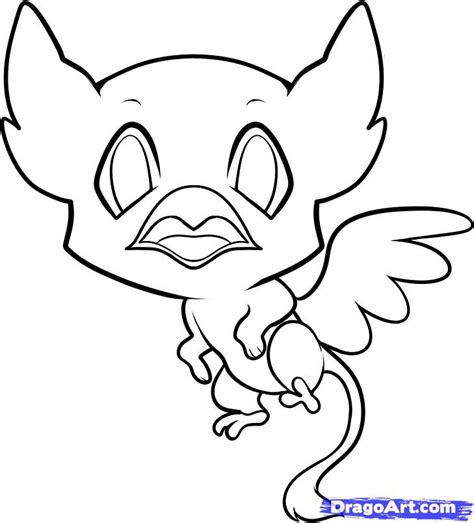 baby griffin coloring page how to draw a griffin for kids step by step fantasy for
