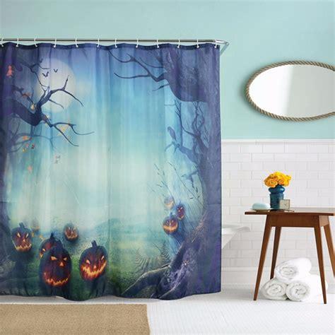 halloween shower curtains 180x180cm halloween pumpkin monster polyester shower