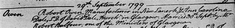 Glasgow Marriage Records Robert Owen 1771 1858 National Records Of Scotland