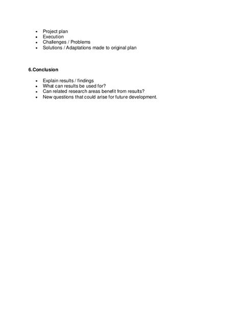 capstone outline template capstone outline report