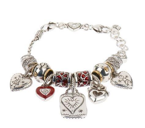 brighton silvertone charm bracelet qvc