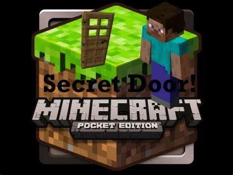 secret door  minecraft pocket edition