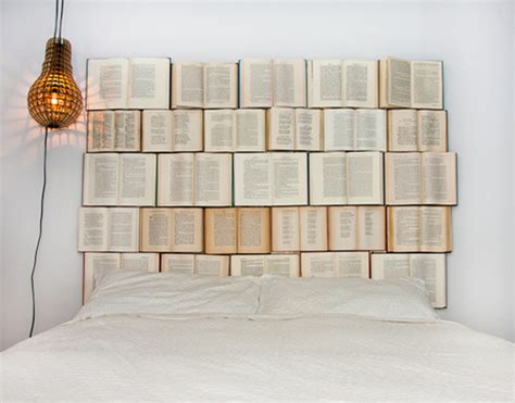 diy book headboard diy headboard for the bed made of old books my desired home
