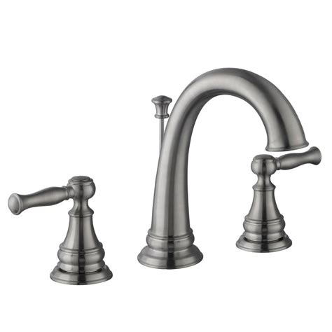 glacier bay bathtub faucets glacier bay fairway 8 in widespread 2 handle high arc