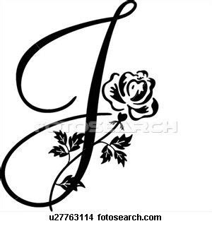 fancy cursive capital j the letter art pinterest