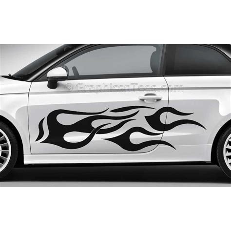 N Car Sticker by Flames Custom Car Stickers Vinyl Graphic Decals X 2 Large